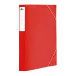 1300002C12_Chemise à 3 rabats PP D 25 Mm Rouge avec etiq