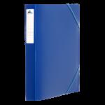 1300002C3_Chemise à 3 rabats PP D 25 Mm Bleu avec etiq