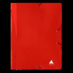 1300004C12_Chemise à 3 rabats Unilaq Plate Rouge