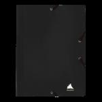1300004C13_Chemise à 3 rabats Unilaq Plate Noir
