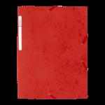 1300038C12_Chemise à 3 rabats carte lustrée Rouge