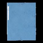 1300038C3_Chemise à 3 rabats carte lustrée Bleu