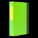 1300046C27_Chemise à 3 rabats en Carton Fluo D 30 Mm Vert
