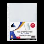 1900004C6_Paquet de 100 Pochettes Perfor+®es en PP 50 Mic Incolore
