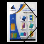 Chemise à rabats plate personnalisable incolore