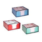 Bloc cube avec charge papier assortis