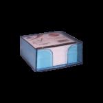 Bloc cube avec charge papier bleu