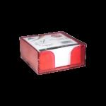 Bloc cube avec charge papier rouge