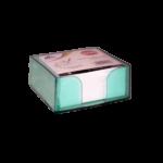 Bloc cube avec charge papier vert